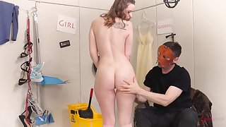 Submissive teen Jessica Kay gets a rough sex session in a swing