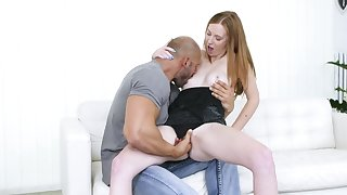 Mature blonde amateur Linda Sweet choked and fucked by a black guy