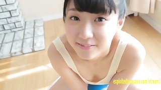 Amateur Rurika Mukushima Appears In Her Debut Movie Teddy Pulled Tight Her Butt And Clunge Are Amazing Petite Beauty