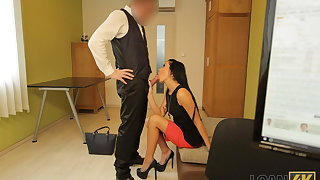 LOAN4K. Adventurous chartered accountant lures a hottie into riding him