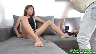 Tiny Teen Thai Asian Chick picked up by Well supplied